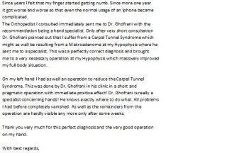 carpal tunnel testimonial