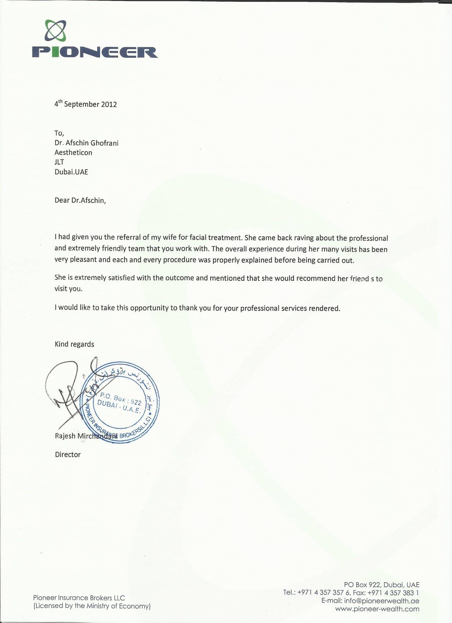 testimonial bni
